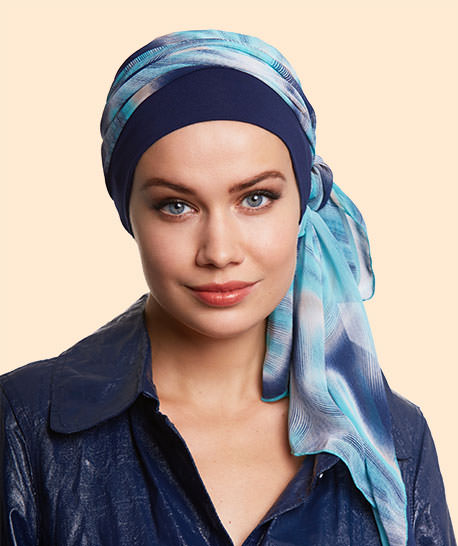 photo turban modele bahia bleu