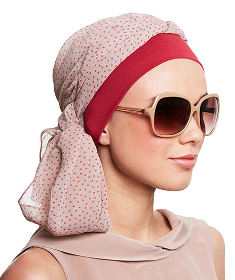photo turban modele bahia rose à pois
