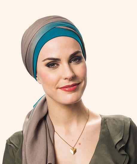 photo turban modele bali bleu canard