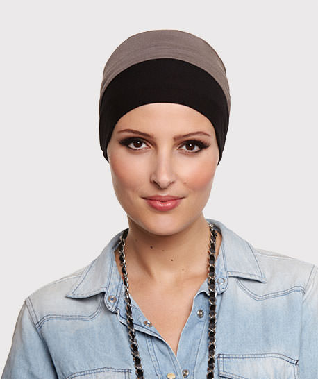 photo mannequin turban bambou reversible taupe