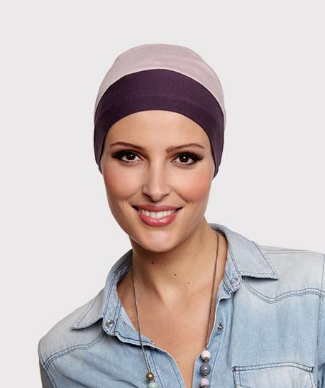 photo mannequin turban bambou reversible violet