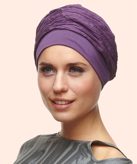 Henry Margu turban Moscou violet