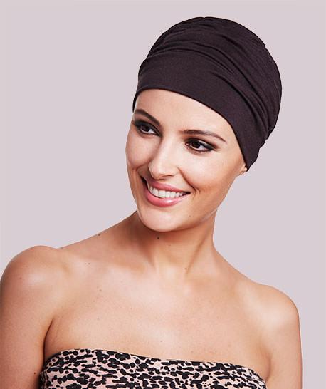 photo mannequin avec turban modele roma chocolat