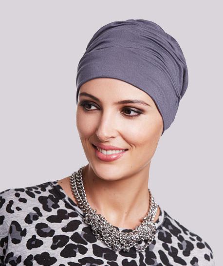 photo mannequin avec turban modèle roma gris